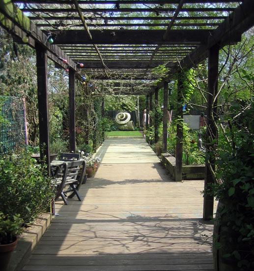 landscaping with garden features