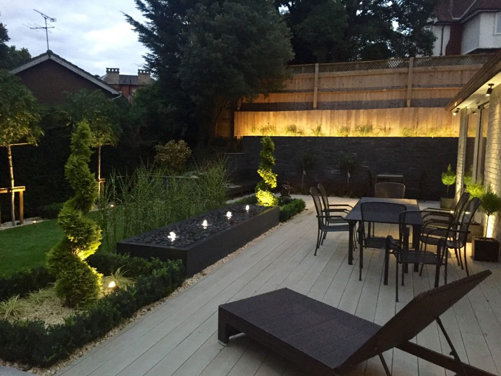 landscaping garden design contemporary garden lighting