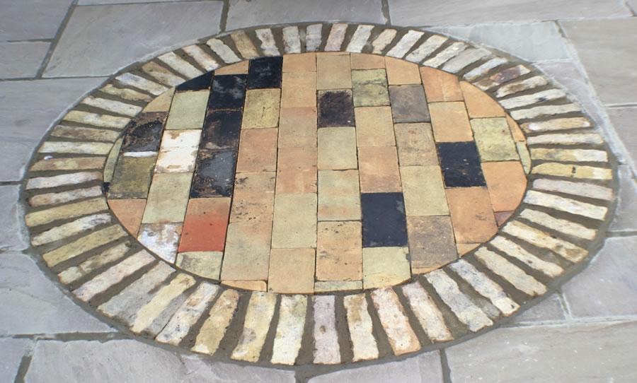 brick circle patio